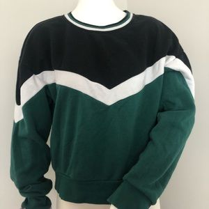 Youth in Revolt green, white, black sweater